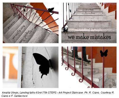 Amalia Ulman, Landing talks 63rd-77th STEPS - Art Project Staircase. Ph. R. Ciano. Courtesy R. Ciano e F. Santacroce