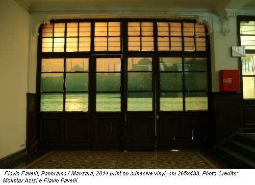 Flavio Favelli, Panorama / Manzara, 2014 print on adhesive vinyl, cm 265x488. Photo Credits: Mokhtar Azizi e Flavio Favelli