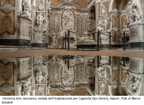 Veronica Ann Janssens, veduta dell'installazione per Cappella San Severo, Napoli. Foto di Marco Ghidelli