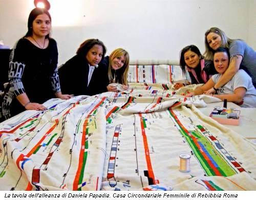 La tavola dell'alleanza di Daniela Papadia. Casa Circondariale Femminile di Rebibbia Roma