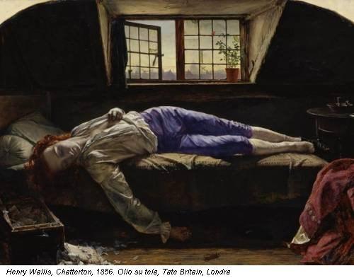 Henry Wallis, Chatterton, 1856. Olio su tela, Tate Britain, Londra