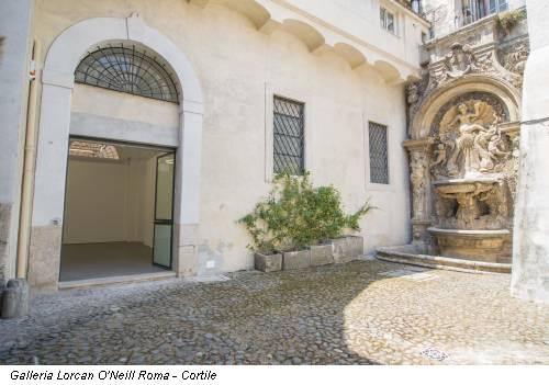 Galleria Lorcan O'Neill Roma - Cortile