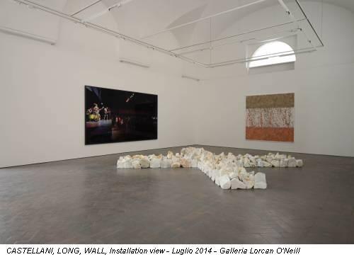 CASTELLANI, LONG, WALL, Installation view - Luglio 2014 - Galleria Lorcan O'Neill