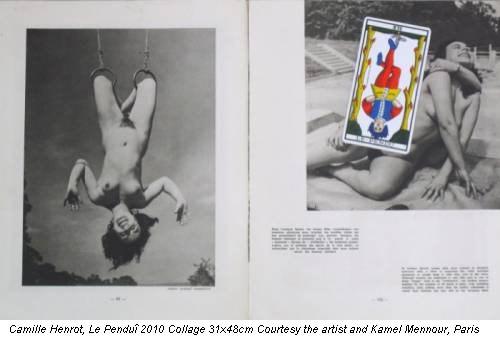 Camille Henrot, Le Penduî 2010 Collage 31x48cm Courtesy the artist and Kamel Mennour, Paris