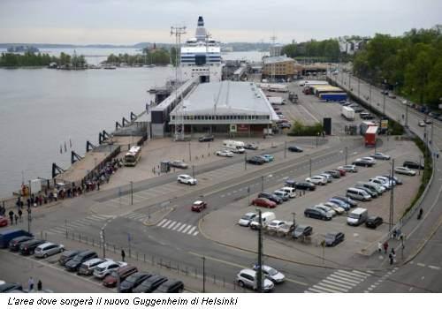 L'area dove sorgerà il nuovo Guggenheim di Helsinki