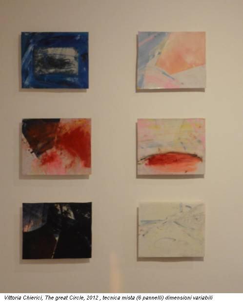 Vittoria Chierici, The great Circle, 2012 , tecnica mista (6 pannelli) dimensioni variabili
