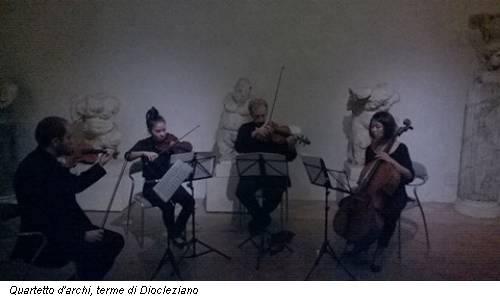 Quartetto d'archi, terme di Diocleziano