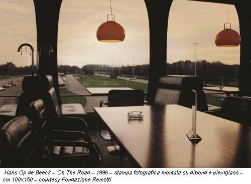 Hans Op de Beeck – On The Road – 1996 – stampa fotografica montata su dibond e plexiglass – cm 100x150 – courtesy Fondazione Remotti