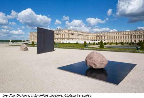 Lee Ufan, Dialogue, vista dell'installazione, Chateau Versailles