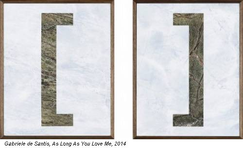Gabriele de Santis, As Long As You Love Me, 2014