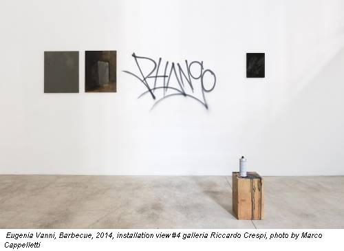 Eugenia Vanni, Barbecue, 2014, installation view #4 galleria Riccardo Crespi, photo by Marco Cappelletti