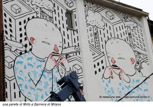 una parete di Millo a Barriera di Milano
