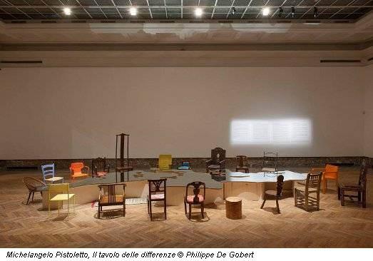 Michelangelo Pistoletto, Il tavolo delle differenze © Philippe De Gobert