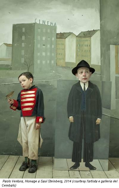 Paolo Ventura, Homage a Saul Steinberg, 2014 (courtesy l'artista e galleria del Cembalo)