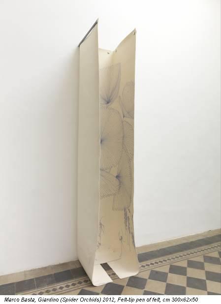 Marco Basta, Giardino (Spider Orchids) 2012, Felt-tip pen of felt, cm 300x62x50