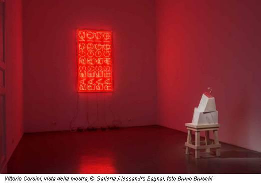 Vittorio Corsini, vista della mostra, © Galleria Alessandro Bagnai, foto Bruno Bruschi