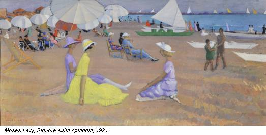 Moses Levy, Signore sulla spiaggia, 1921