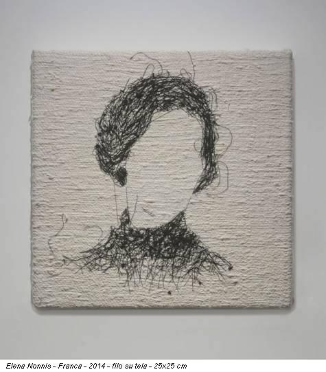 Elena Nonnis - Franca - 2014 - filo su tela - 25x25 cm