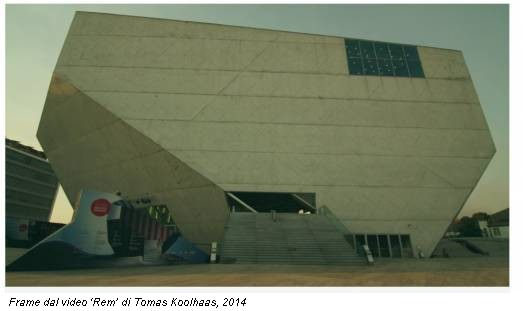 Frame dal video 'Rem' di Tomas Koolhaas, 2014