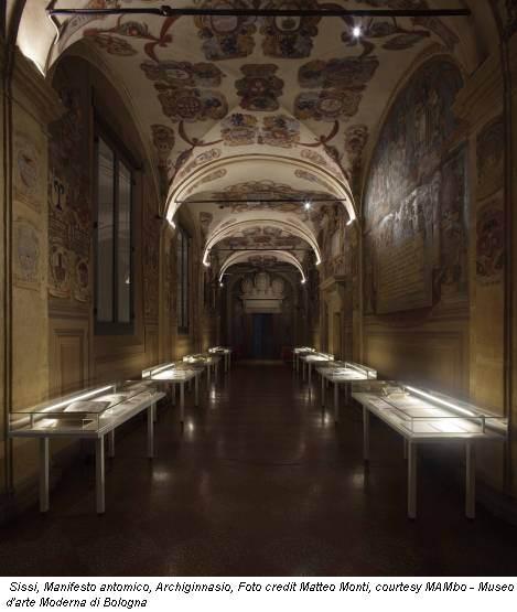 Sissi, Manifesto antomico, Archiginnasio, Foto credit Matteo Monti, courtesy MAMbo - Museo d'arte Moderna di Bologna