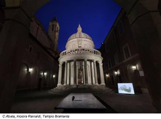 C.Abate, mostra Rainaldi, Tempio Bramante