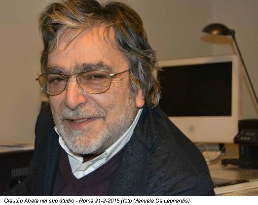 Claudio Abate nel suo studio - Roma 21-2-2015 (foto Manuela De Leonardis)