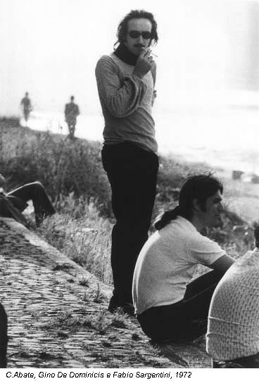 C.Abate, Gino De Dominicis e Fabio Sargentini, 1972
