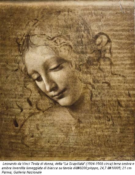 Leonardo da Vinci Testa di donna, detta