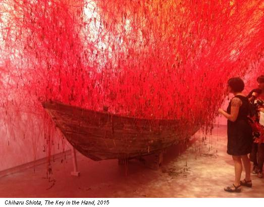 Chiharu Shiota, The Key in the Hand, 2015