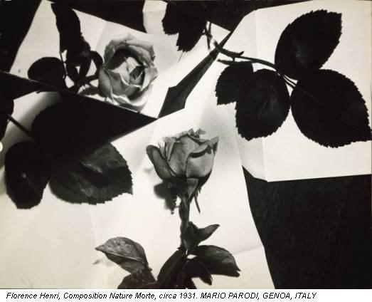 Florence Henri, Composition Nature Morte, circa 1931. MARIO PARODI, GENOA, ITALY