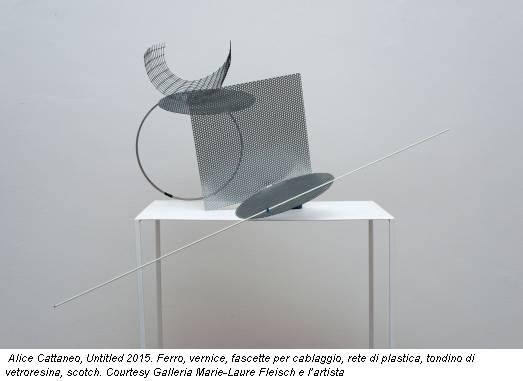 Alice Cattaneo, Untitled 2015. Ferro, vernice, fascette per cablaggio, rete di plastica, tondino di vetroresina, scotch. Courtesy Galleria Marie-Laure Fleisch e l'artista