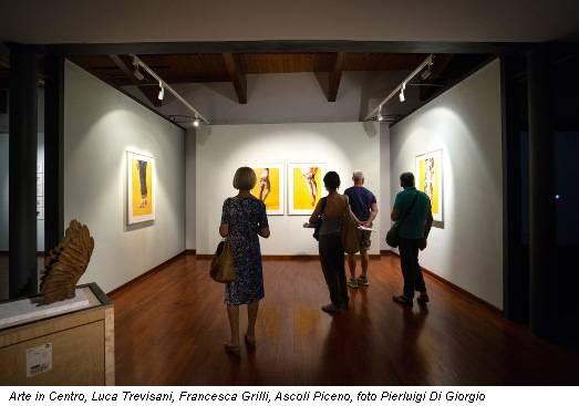 Arte in Centro, Luca Trevisani, Francesca Grilli, Ascoli Piceno, foto Pierluigi Di Giorgio