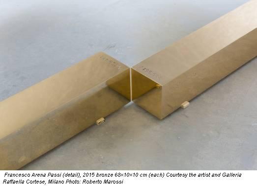 Francesco Arena Passi (detail), 2015 bronze 68×10×10 cm (each) Courtesy the artist and Galleria Raffaella Cortese, Milano Photo: Roberto Marossi