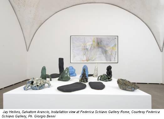 Jay Heikes, Salvatore Arancio, Installation view at Federica Schiavo Gallery Rome, Courtesy Federica Schiavo Gallery, Ph. Giorgio Benni