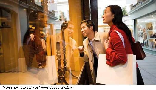 I cinesi fanno la parte del leone tra i compratori