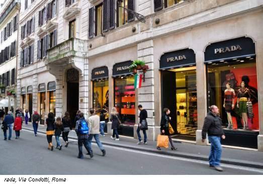 rada, Via Condotti, Roma