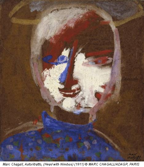 Marc Chagall, Autoritratto, (Head with Nimbus) (1911) © MARC CHAGALL/ADAGP, PARIS