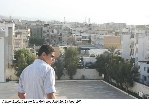 Akram Zaatari, Letter to a Refusing Pilot 2013 video still