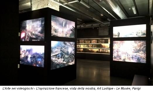 L'Arte nei videogiochi - L'ispirazione francese, vista della mostra, Art Ludique - Le Musée, Parigi