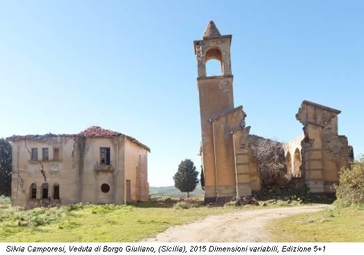 Silvia Camporesi, Veduta di Borgo Giuliano, (Sicilia), 2015 Dimensioni variabili, Edizione 5+1