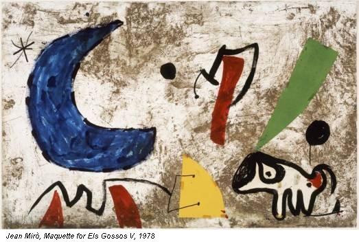 Jean Mirò, Maquette for Els Gossos V, 1978