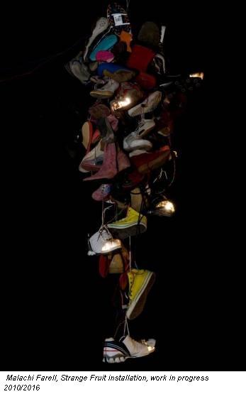 Malachi Farell, Strange Fruit installation, work in progress 2010/2016