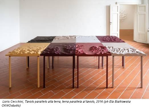 Loris Cecchini, Tavolo parallelo alla terra, terra parallela al tavolo, 2016 (ph Ela Bialkowska OKNOstudio)