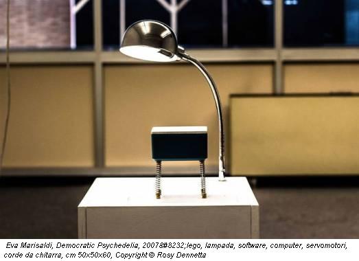 Eva Marisaldi, Democratic Psychedelia, 2007lego, lampada, software, computer, servomotori, corde da chitarra, cm 50x50x60, Copyright © Rosy Dennetta