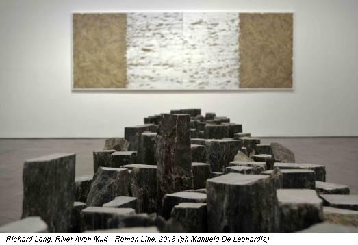 Richard Long, River Avon Mud - Roman Line, 2016 (ph Manuela De Leonardis)