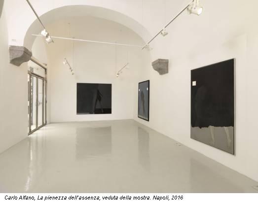 Carlo Alfano, La pienezza dell'assenza, veduta della mostra. Napoli, 2016