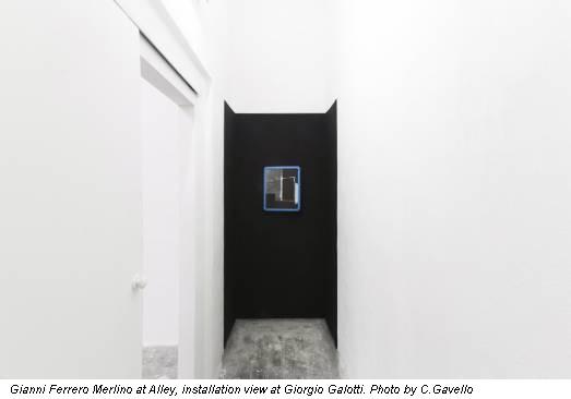 Gianni Ferrero Merlino at Alley, installation view at Giorgio Galotti. Photo by C.Gavello