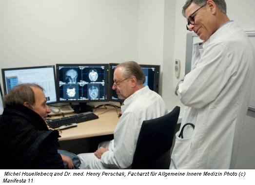 Michel Houellebecq and Dr. med. Henry Perschak, Facharzt für Allgemeine Innere Medizin Photo (c) Manifesta 11