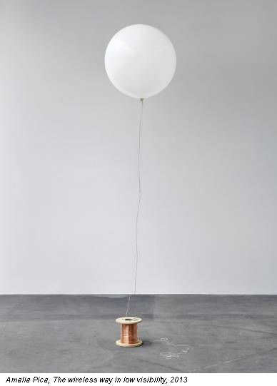Amalia Pica, The wireless way in low visibility, 2013