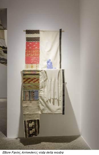 Ettore Favini, Arrivederci, vista della mostra